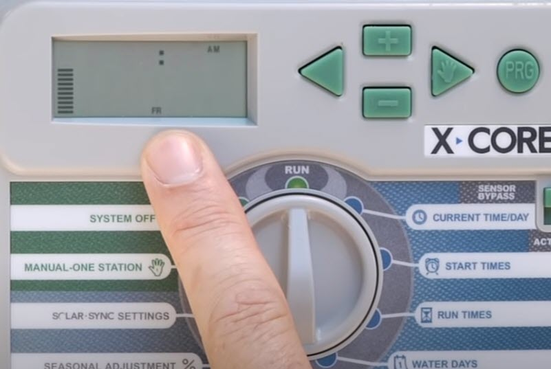 conventional irrigation controller
